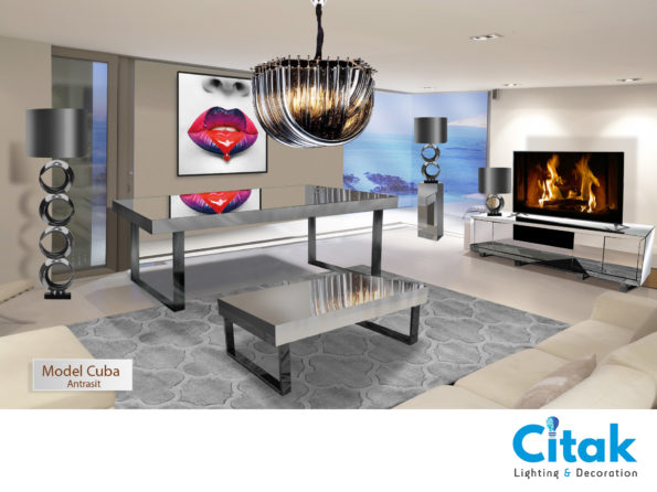 CUBA MIRRORED FURNITURE ANTRASIT