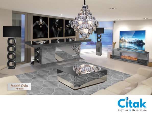 OSLO MIRRORED LIVING ROOM ANTRASIT