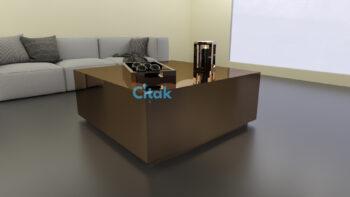 17237 COFFEE TABLE 100X100 CM SEPIA : CITAK DECO