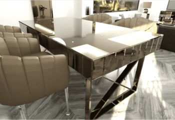19005 TOKYO DINING TABLE : SEPIA : 160X90X78 AND 180X90X78 CM : CITAK DECO